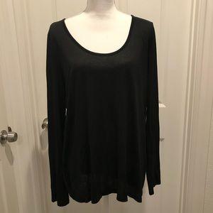 VINCE long sleeve top Rayon polyester tunic
